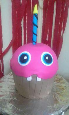 Un rico Cupcake jumbo de Five Nights at Freddys
