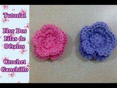Como hacer una flor fcil a gancho o ganchillo crochet YouTube