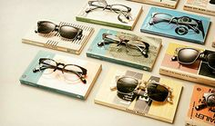Warby Parker 2013 Fall Collection: Warby Parker's Fall 2013 Collection takes its inspiration from the early that era of Warby Parker, Online Eyeglasses, Glasses Shop, Eye Glasses, Prop Styling, Store Displays, Window Displays, Fall Collections, Ideas