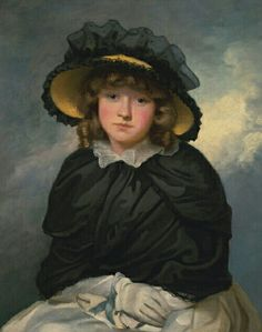 """Louisa Lane, Called """"Cecilia"""", 1782 by John Hoppner (1758-1810) British Louisa Lane Drew was the wife of John Drew, mother of Georgianna, Simon Drew and the grandmother of Lionel, Ethel and John Barrymore. Great-great-grandmother of Drew Barrymore."""