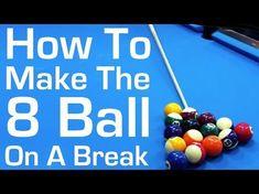 Pool Break Shot Technique Advice - How To Break - from Vol-III of the BU instructional DVD series - YouTube