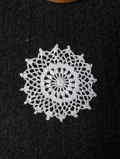 Miniature crochet dollhouse white doilies handmade with cotton embroidery thread and a tiny hook. Extra fine handmade Miniature dollhouse crochet lace doily (scale 1:12) Size: (about) 2 inches Hand crocheted and ready to ship (without poni!). This beautiful handmade miniature textured