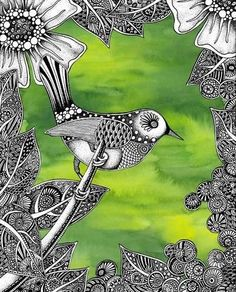 Green-n-Groovy's Lorrie Bennett is also Zentangle's pioneer. Back in the day this was called creating texture and design with pen and ink.
