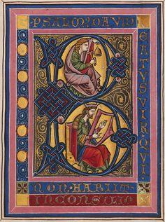 Miniatura del Salterio de Rheinau, copiado en Constanza, ca. 1260. Zürich, Zentralbibliothek, Ms. Rh. 167, f. 10r  http://www.e-codices.unifr.ch/en/list/one/zbz/Ms-Rh-0167