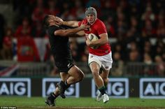 "Jon ""Fox"" Davies hands off Anton Lienert-Brown British And Irish Lions, Anton, Rugby, New Zealand, Contemporary Art, Fox, Tours, Hands, Brown"