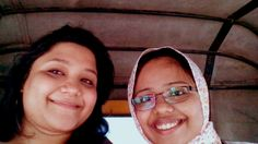 Selfie time with bestie.  With Deepa Balasubramanian. Chennai, 2014.