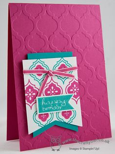 Bright Mosaic Madness Card Mosaic Madness, Mosaic Textured Impressions Embossing Folder, Banner Greetings, Stamp-a-ma-jig Joanne James, www.blog.thecraftyowl.co.uk