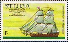 St Lucia 1976 Bicentenary of American Revolution Ship SG 407 Fine Mint SG 407 Scott 380 Condition Fine MNH Only one post charge applied on multipule