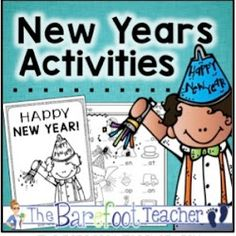 New Years Activity Pack - New Years Emergent Reader with Write-Your-Own Resolutions Page & 14 Math & Literacy Activity Pages Kindergarten Readiness, Math Literacy, Kindergarten Classroom, Classroom Ideas, Future Classroom, Father's Day Activities, Phonics Activities, Writing Activities, Poetry Books For Kids