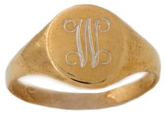 Small Gold-Filled Signet Ring | Virtual Delivery | One Kings Lane