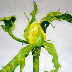 Marjut Siro, Keltainen 2005, akryyli vanerille 50 cm x 50 cm Rose Buds, Stuffed Peppers, Paintings, Vegetables, Paint, Stuffed Pepper, Painting Art, Vegetable Recipes, Stuffed Sweet Peppers