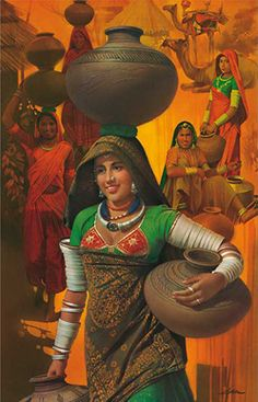 An online art gallery offering the best range of indian art online. Choose to buy from paintings, prints, artworks and more by renowned artists. India Painting, Woman Painting, Figure Painting, Silk Painting, Rajasthani Painting, Rajasthani Art, Indian Women Painting, Indian Art Paintings, Ravivarma Paintings