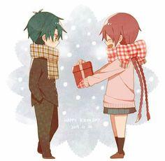 Sakuno handing her girft to Ryoma Prince Of Tennis Anime, Cute Anime Couples, Anime Chibi, Anna, Geek Stuff, Romance, Cartoon, Boys, Gift