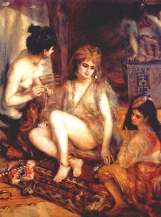 The Harem (Parisian Women Dresses as Algerians) by Pierre-Auguste Renoir