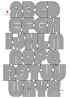 Super Stylish ABC labyrint poster