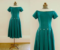 V I N T A G E Forest Faun dropwaist dress. $48.00, via Etsy.