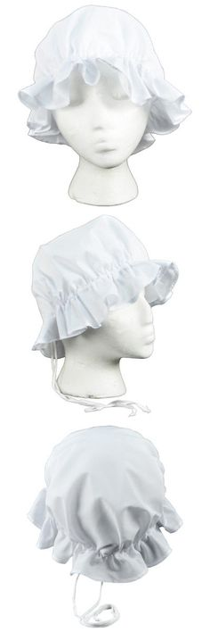7d94bdabe8c 18th Century Colonial 163129  Colonial Amish Mob Cotton Hat Womens White  Bonnet Poor Girl Maid Pilgrim Costume -  BUY IT NOW ONLY   10.49 on  eBay   century ...