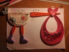 realizzazione fiocco nascita paper quilling