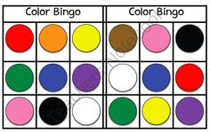 Color Bingo - FREEBIE! from Miss Jill on TeachersNotebook.com (3 pages)  - Color Bingo - FREEBIE! - Miss Jill Colors - red, orange, yellow, green, blue, purple, pink, brown, black, white Includes 6 bingo cards