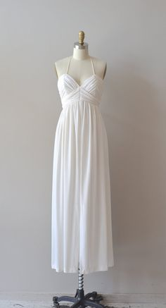 1970s jersey dress / grecian dress / Neapolis maxi dress