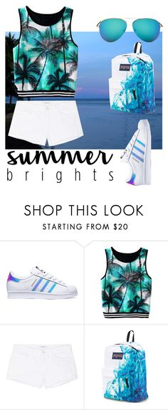 """""""Summer Brightss"""" by komal0909 ❤ liked on Polyvore featuring adidas, J Brand, JanSport, Victoria Beckham and summerbrights"""