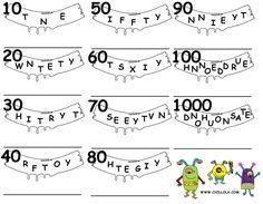 Resultado de imagen de activities of numbers in english