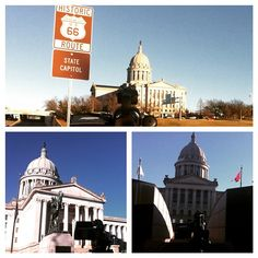 Shooting B roll around the Oklahoma State Capitol today. Did you know that the Oklahoma State Capitol is on Route 66?