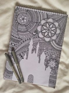 Disney zentangle