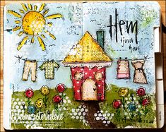 My happy place - webmosterhelene, that's me: Art journal - Hem ljuva hem