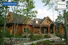 Tranquility House Plan 04159, Front Elevation, Mountain Style House Plans, Craftsman Style House Plans, Rustic Style House Plans
