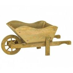 The Woodland Wheelbarrow Planter is a charming garden ornament with a working wheel. Made from robust pine this wheelbarrow features a large planter,. Rustic Wheelbarrows, Wheelbarrow Planter, Planter Garden, Wooden Pallets, Wooden Diy, Wooden Projects, Wood Crafts, Wooden Planters, Wooden Garden Ornaments