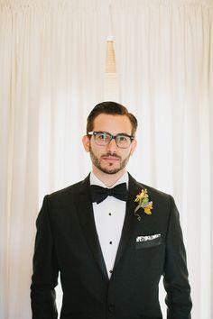 dapper groom's look // photo by Andrew Thomas Lee