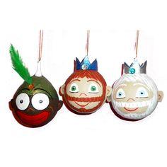 Bolas de Navidad de los Tres Reyes Magos de Papel Maché