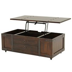 Santa Fe Lift Top Coffee Table W/Casters