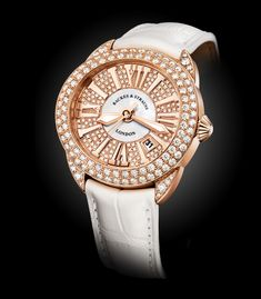Explore our classic round Piccadilly watches, crafted in Switzerland. Diamond pieces are designed in Rose and White gold, featuring Ideal Cut diamonds. Ideal Cut Diamond, Diamond Cuts, White Gold, Watches, Luxury, Accessories, Collection, Wristwatches, Clocks
