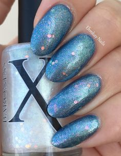 ehmkay nails: Baroness X The Lost Coast Collection, Swatches and Review. Baroness X Kalidotide over Penumbra