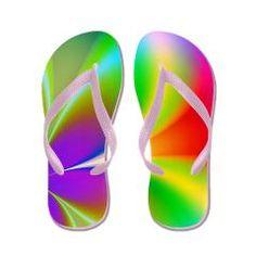 Funky Rainbow Floral Flip Flops > Flip Flops > The Shower Curtain