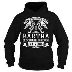 Awesome Tee BARTHA Blood - BARTHA Last Name, Surname T-Shirt T shirts