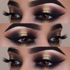 23 Glitzy New Year's Eve Makeup Ideas: #4. BOLD GOLD EYES; #makeup; #eyemakeup