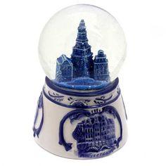 SCHUDBOL / SNEEUWBOL AMSTERDAM DELFTS BLAUW RELIEF - Sneeuwbollen - Holland Souvenir Shop