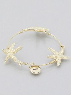 Flexi Wire Starfish Bangle Bracelet Trendy Bracelets, Bangle Bracelets, Bangles, Starfish, Wire, Gold, Jewelry, Bracelets, Bracelets