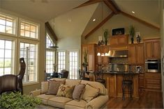 House Plan # 120-2148 great room shot 1