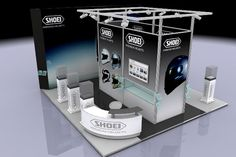 A modular exhibition stand design at Motorcycle Live. All images ©Apex.co.uk