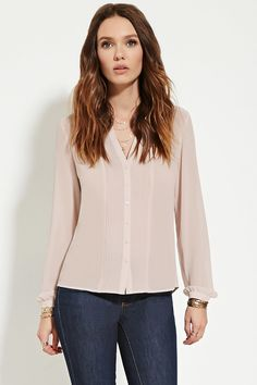 Pintucked Chiffon Blouse