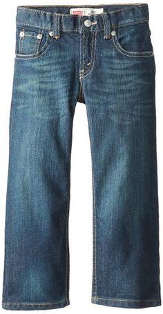 Levi's Big Boys' Slim 505 Regular Fit Jean, Cash, 8 Small $14.99  #jeans #backtoschool #levis #boys