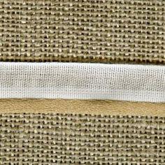 Ruban Passepoil blanc queue de souris, col. Or cuivré