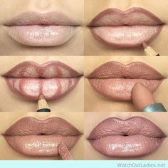 Step by Step to make your lips look fuller