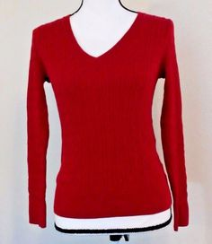 Talbot's Women's Sweater Size 4P Red Pima 100% Cotton Bright Light Spring | Clothing, Shoes & Accessories, Women's Clothing, Sweaters | eBay!