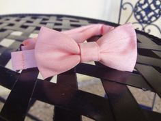 Pre-Tied Toddler Bow Tie Color Blush by BowMeAwayByAlexandra on Etsy