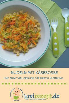 Nudeln mit Gemüse-Käsesosse breifreie Beikost